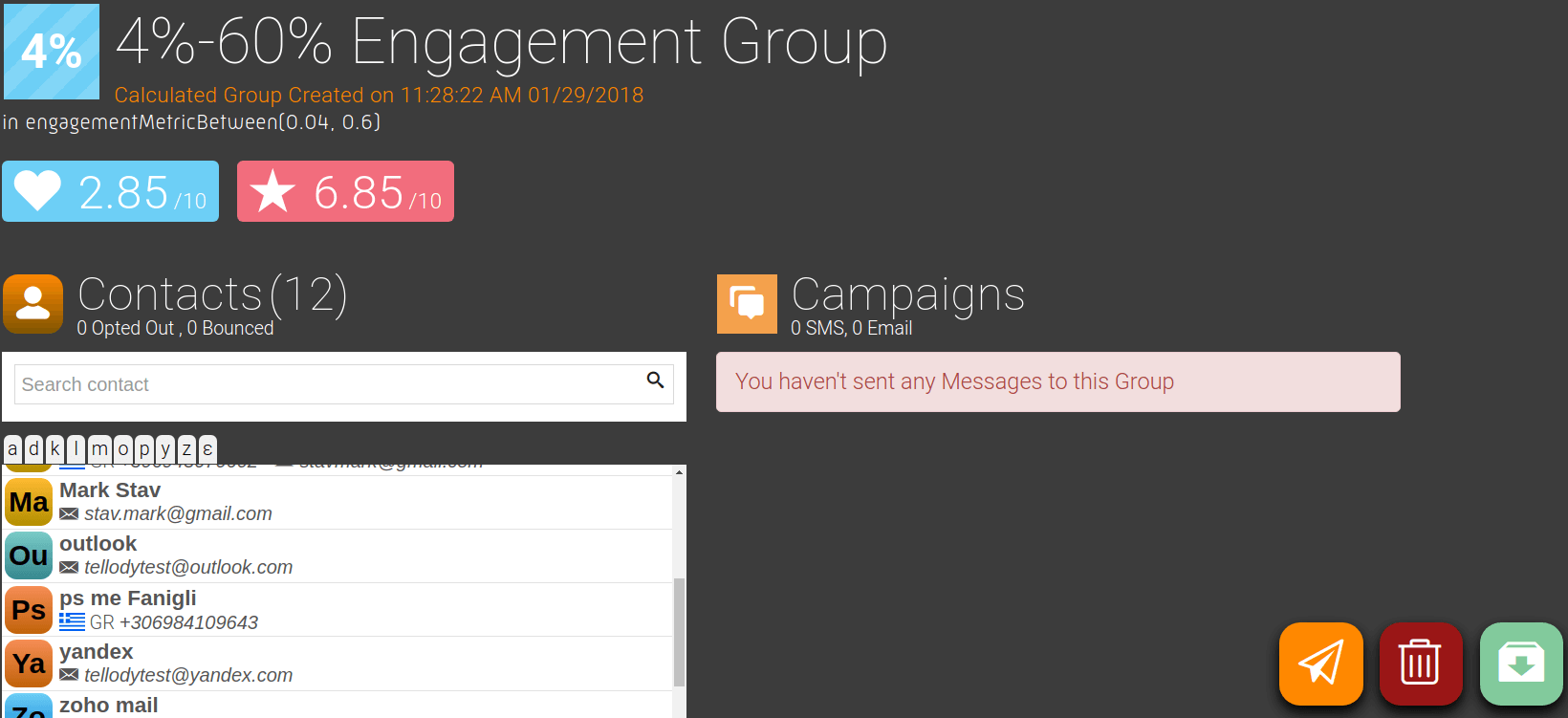 Engagement Dynamic Group Details